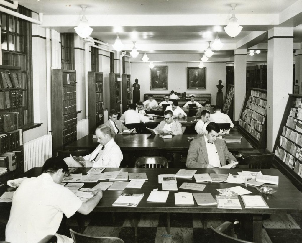 The UVA Medical Library in the Mid 1950s