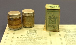 Items from the Von Frieling's Salve Collection, Accession #MS-65, Historical Collections, Claude Moore Health Sciences Library, University of Virginia