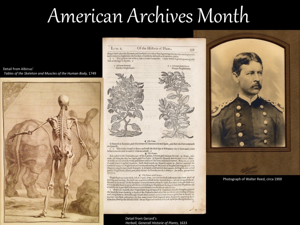 American Archives Month 2016 banner